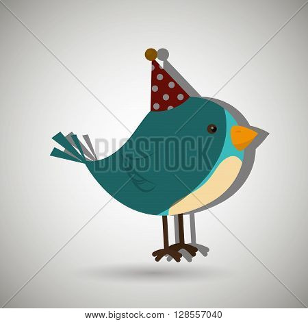 bird whit hat party design, vector illustration eps10 graphic