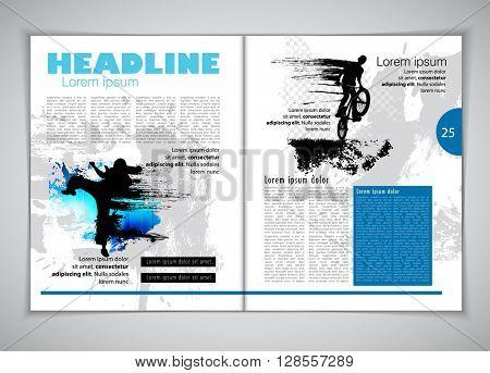 Layout, sport magazine