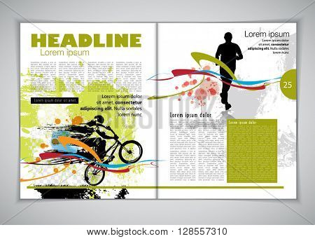 Layout press magazine, vector