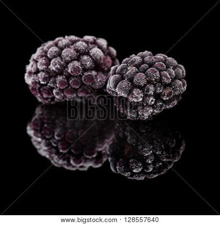 Frozen Blackberry Macro