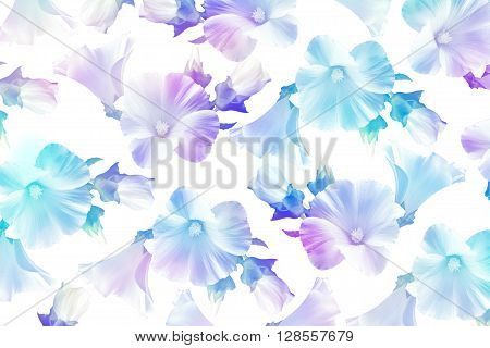 floral background. abstract background of delicate flowers mallow