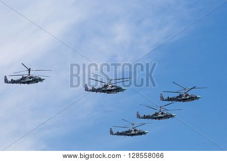 Kamov Ka-52 (alligator) Attack Helicopters