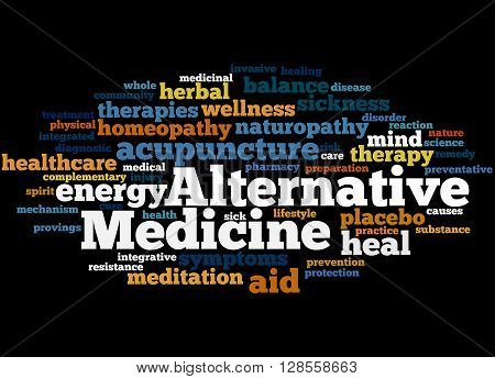 Alternative Medicine, Word Cloud Concept 4