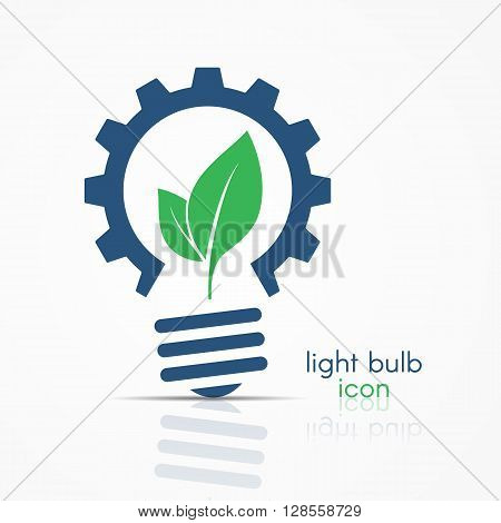 Red Gear Light Bulb Idea Icon With Circuit Board Inside