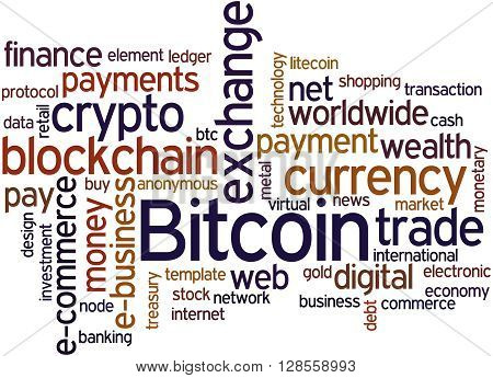 Bitcoin, Word Cloud Concept 2