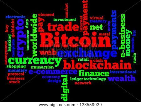 Bitcoin, Word Cloud Concept 4
