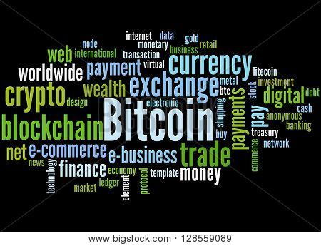 Bitcoin, Word Cloud Concept 8