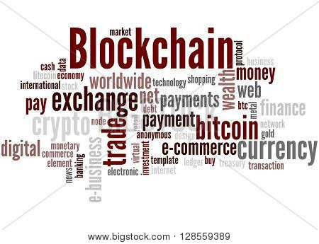Blockchain, Word Cloud Concept 5