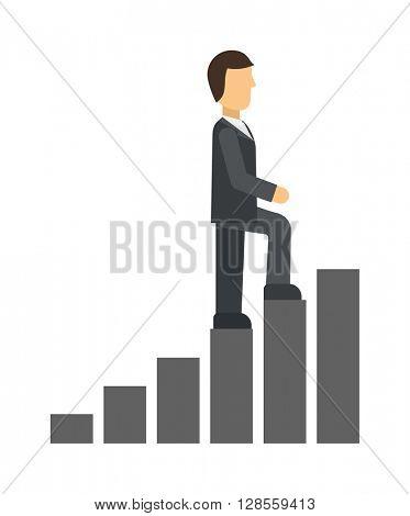 Career ladder vector illustration.