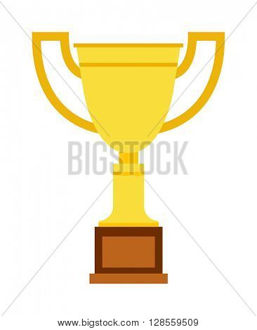 Champion cup vector icon.