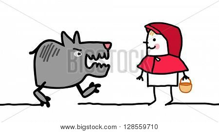 cartoon characters - little red riding hood