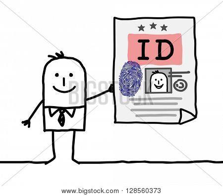 cartoon character - identity card