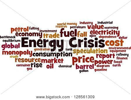 Energy Crisis, Word Cloud Concept
