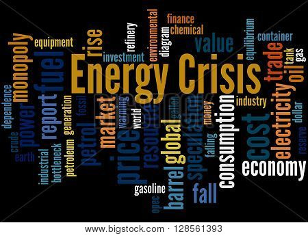 Energy Crisis, Word Cloud Concept 4
