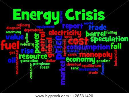 Energy Crisis, Word Cloud Concept 6