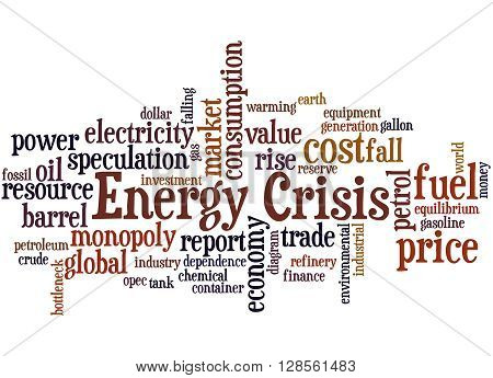 Energy Crisis, Word Cloud Concept 9