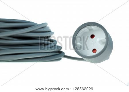 Power Extension Cable Isolated On White Background