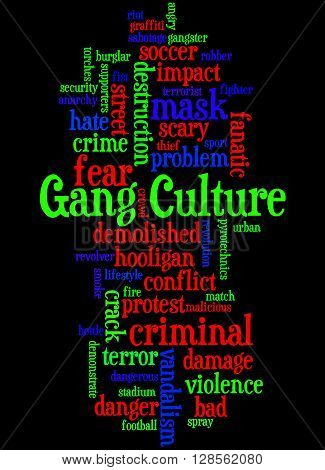 Gang Culture, Word Cloud Concept