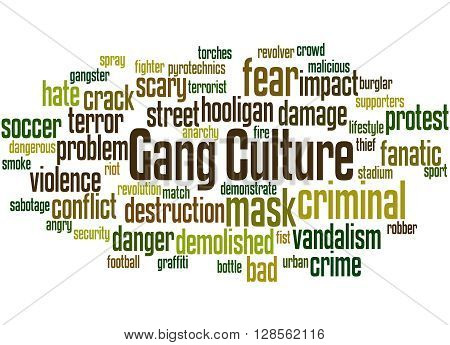 Gang Culture, Word Cloud Concept 3