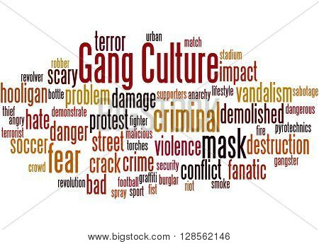 Gang Culture, Word Cloud Concept 4