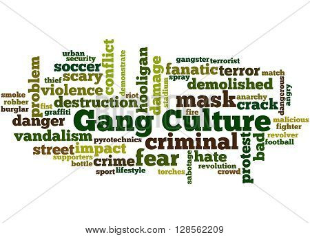 Gang Culture, Word Cloud Concept 7
