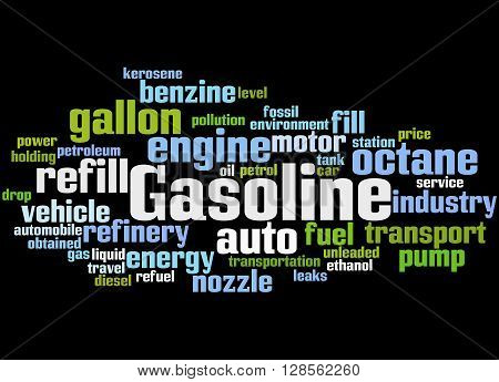 Gasoline, Word Cloud Concept