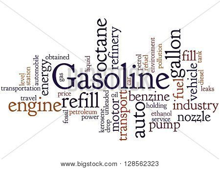Gasoline, Word Cloud Concept 6