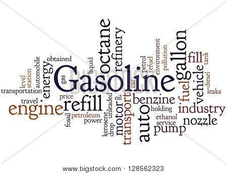 Gasoline, Word Cloud Concept 6