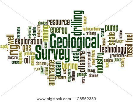 Geological Survey, Word Cloud Concept