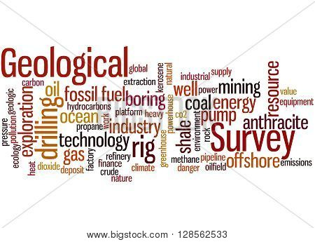 Geological Survey, Word Cloud Concept 5