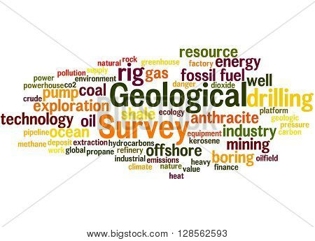 Geological Survey, Word Cloud Concept 9