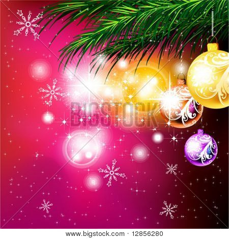 Christmas vector for New Year design