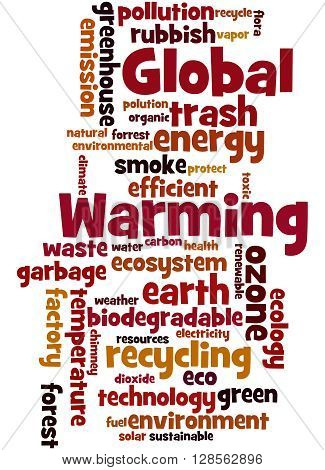 Global Warming, Word Cloud Concept 5