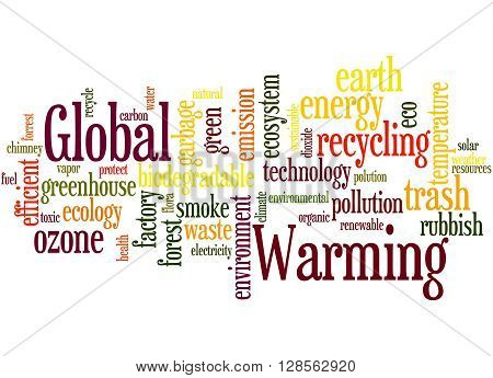 Global Warming, Word Cloud Concept 6