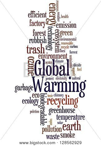Global Warming, Word Cloud Concept 7