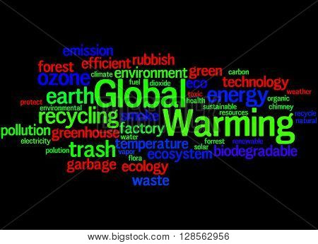Global Warming, Word Cloud Concept 8