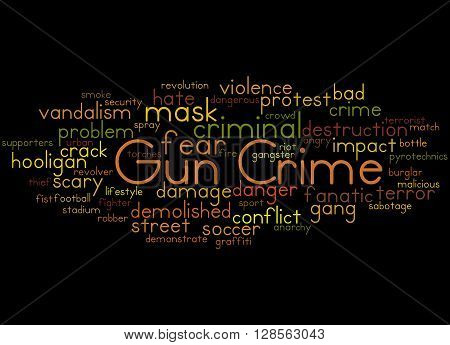 Gun Crime, Word Cloud Concept 3