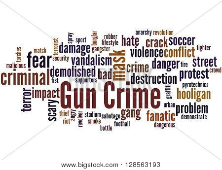 Gun Crime, Word Cloud Concept 7
