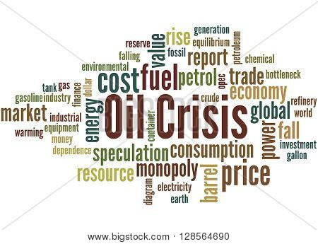 Oil Crisis, Word Cloud Concept 5