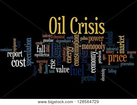 Oil Crisis, Word Cloud Concept 6