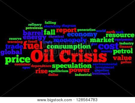 Oil Crisis, Word Cloud Concept 8