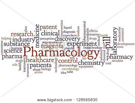 Pharmacology, Word Cloud Concept 7