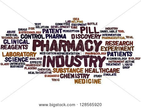 Pharmacy Industry, Word Cloud Concept 2