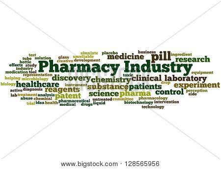 Pharmacy Industry, Word Cloud Concept 4