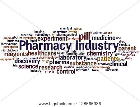 Pharmacy Industry, Word Cloud Concept 6