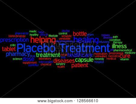 Placebo Treatmen, Word Cloud Concept 5