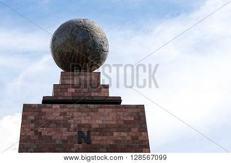 Center Of The World Mitad Del Mundo Monument In South America