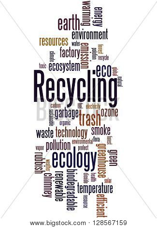 Recycling, Word Cloud Concept