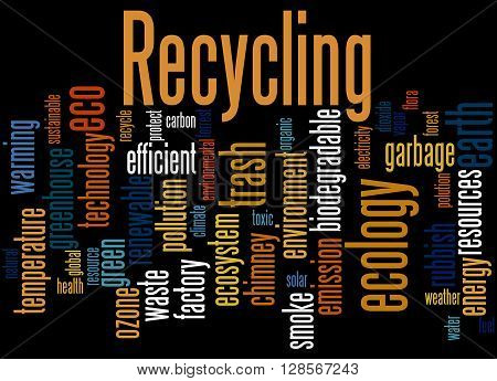 Recycling, Word Cloud Concept 9