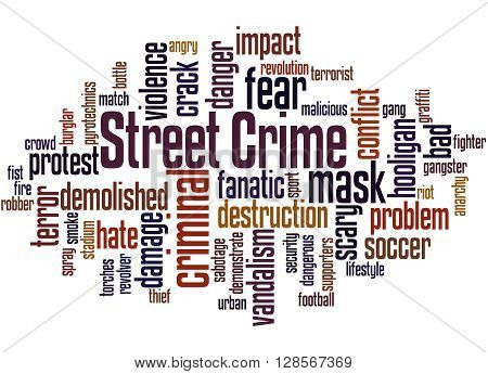 Street Crime, Word Cloud Concept 3